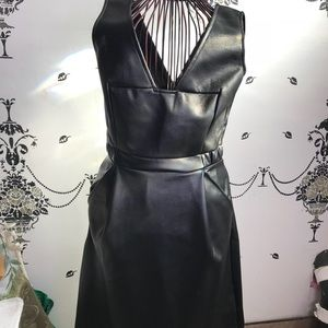 FCUK Pleather knee length dress with pockets